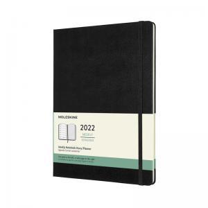 Moleskine Weekly Notebook Black hard XL 2022