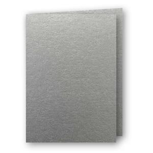 A5 Kort dubbla 5-pack 220g Silver