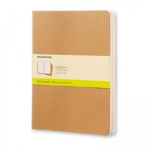 Moleskine Moleskine Cahier Journal Plain X-Large Kraft Brown - Kalenderkungen.se