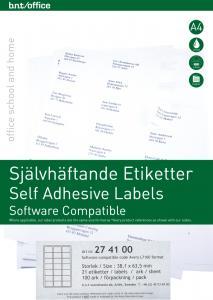 B.N.T Kop/Laseretiketter 63,5x38,1mm - Kalenderkungen.se