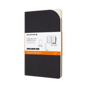 Moleskine M+ Paper Tab. cahier linjerad large svart - Kalenderkungen.se
