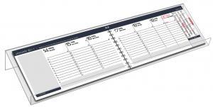 Kalenderställ Plankalender transparent plexi