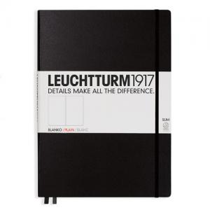 Leuchtturm1917 Leuchtturm Notebook A4 Slim Hard 121s Svart olinjerad - Kalenderkungen.se