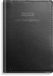 Lilla Fickdagboken svart skinn 2022