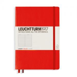 Leuchtturm1917 Leuchtturm Notebook A5 hard 249s Red linjerad - Kalenderkungen.se