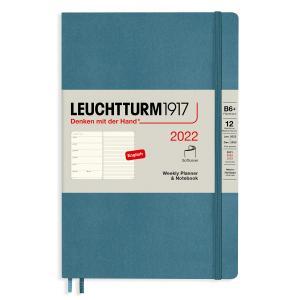 Kalender Leuchtturm1917 B6 Soft vecka/notes Stone Blue 2022