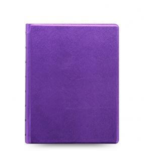 Filofax Saffiano Notebook A5 Metallic Violet - Kalenderkungen.se
