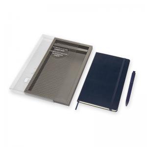 Moleskine Moleskine Notebook Large & Go Pen set blå - Kalenderkungen.se