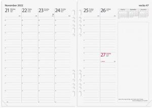 Business Systemkalender svart konstläder 2022