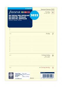 Filofax Dagbok A5 2022 v/u