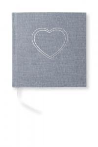 Paperstyle Olinjerad Blank Book Heart Denim - Kalenderkungen.se