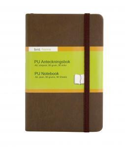 B.N.T PU Notebook A6 olinjerad Brun - Kalenderkungen.se