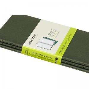 Moleskine Cahier Journal Pocket Plain - Grön