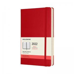 Moleskine Moleskine Daily Red Hard Large 2022 - Kalenderkungen.se