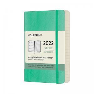 Moleskine Weekly Notebook Green soft pocket 2022