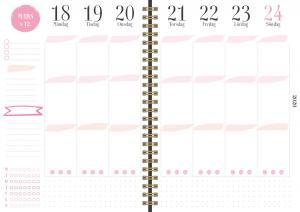 Burde Förlag Life Planner Pink A6 2020-2021 - Kalenderkungen.se