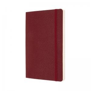 Moleskine Moleskine Ruled Classic Leather Notebook Large - Röd 13x21cm - Kalenderkungen.se