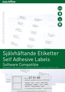 B.N.T Kop/Laseretiketter 199,6 x 143,5 mm - Kalenderkungen.se