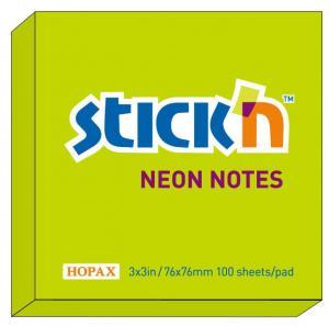 B.N.T Notesblock 76x76 Grön neon - Kalenderkungen.se