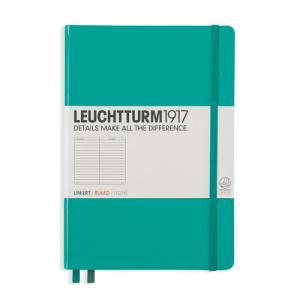 Leuchtturm1917 Leuchtturm Notebook A5 hard 249s Emerald linjerad - Kalenderkungen.se