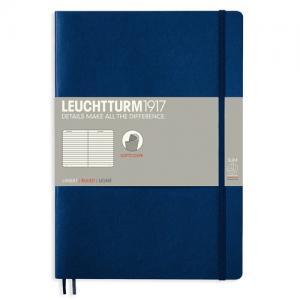 Leuchtturm1917 Leuchtturm Notebook B5 Soft 121s Navy Linjerad - Kalenderkungen.se
