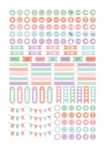 Calender Stickers Mia