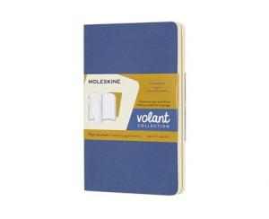 Moleskine Moleskine Volant Journal Plain Pocket Coral Orange/aquamarine blue - Kalenderkungen.se