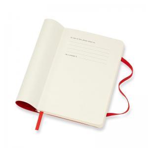 Moleskine Weekly Notebook Red soft pocket 2022