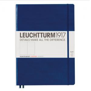 Leuchtturm1917 Leuchtturm Notebook A4 Slim Hard 121s Navy dotted - Kalenderkungen.se