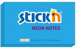 Notisblock 76x127 Blå Neon