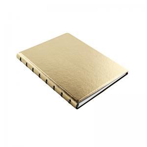 Filofax Saffiano A5 Notebook Gold - Kalenderkungen.se