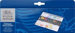 Akvarellset Cotman Blue Box 12 ½ koppar