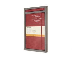 Moleskine Moleskine Notebook Large & Go Pen set röd - Kalenderkungen.se