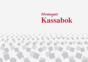 Burde Förlag Företagets kassabok - A4 - 297x210mm - Kalenderkungen.se