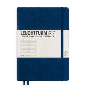 Leuchtturm1917 Leuchtturm Notebook A5 hard 249s Navy linjerad - Kalenderkungen.se
