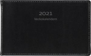 Veckokalender svart skinn 2021