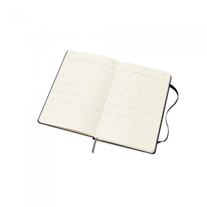 Moleskine Horizontal Weekly Black hard Large 2021