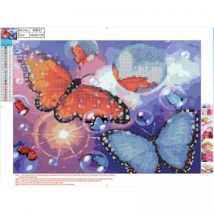 Pärlmosaik Diamond 30x40cm Fjärilar
