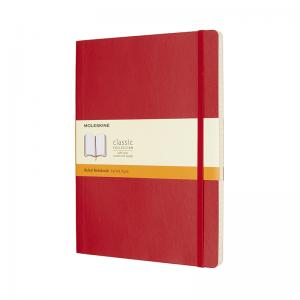 Moleskine Moleskine Classic Soft XL Ruled Notebook Red - Kalenderkungen.se