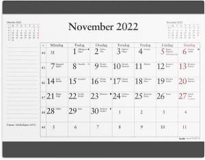 Musmatta med månadsblock 2022