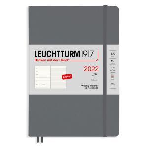 Kalender Leuchtturm1917 A5 Soft vecka/notes Anthracite 2022