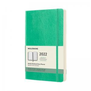 Moleskine Weekly notebook Large Green Soft 2022