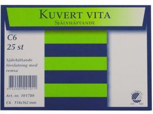 Emo Kuvert C6 25st Självhäftande - Kalenderkungen.se