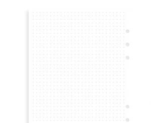 Filofax Anteckningsblad A5 Dotted vita - Kalenderkungen.se