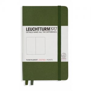 Leuchtturm1917 Leuchtturm A6 hard 185s Army dotted - Kalenderkungen.se