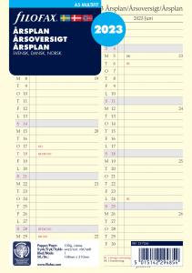 Filofax Årsplan A5 2023
