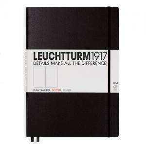 Leuchtturm1917 Leuchtturm Notebook A4 Slim Hard 121s Black dotted - Kalenderkungen.se