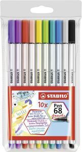 Stabilo Stabilo PenBrush 68 10st - Kalenderkungen.se