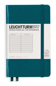 Leuchtturm1917 Leuchtturm A6 hard 185s Pacific Green linjerad - Kalenderkungen.se