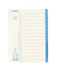 Emo Pappersregister JOPA A4 1-15 vit/blå - Kalenderkungen.se